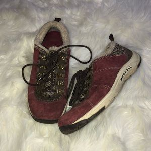 Merrell suede lace up sneakers